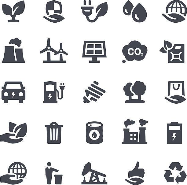bildbanksillustrationer, clip art samt tecknat material och ikoner med ecology icons - co2