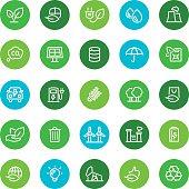 Environment, ecology, icons, eco, bio, icon, icon set, line, bio fuel, green energy