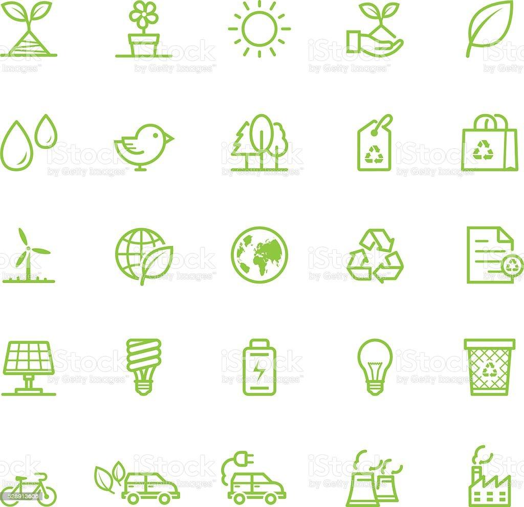 Icônes de l'écologie - Illustration vectorielle