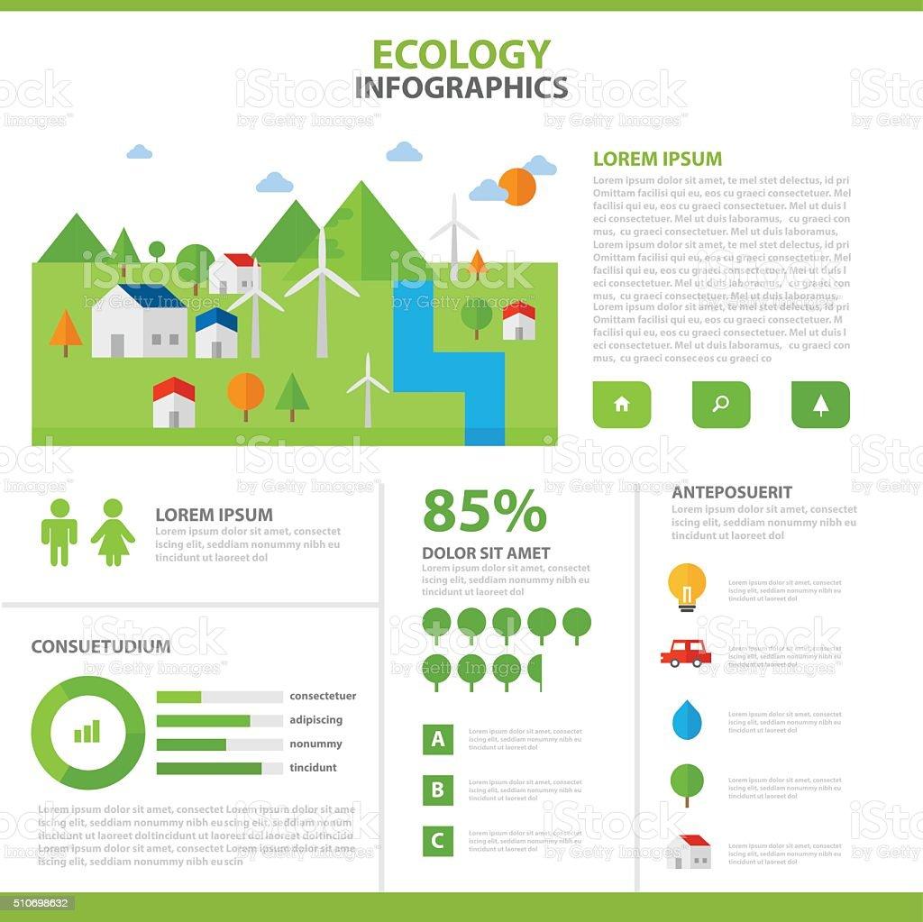 Ilustración de Ecología Infografía Elementos Diseño Plantilla De ...