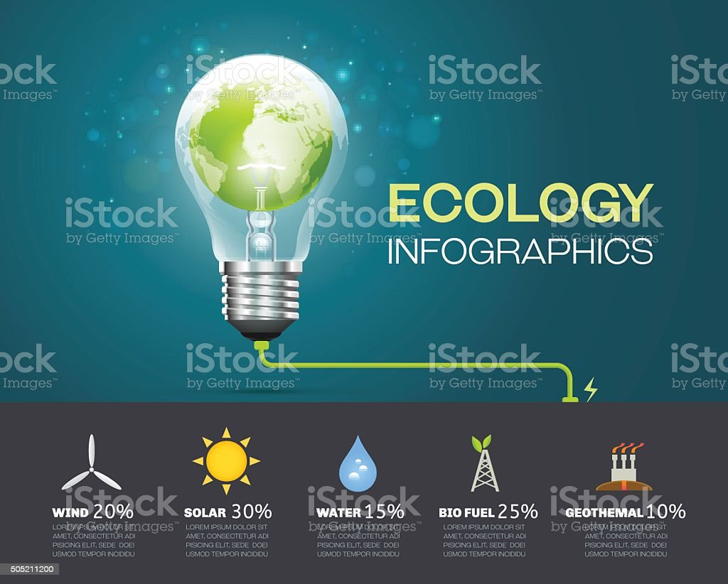 ecology infographic Environment vector art illustration