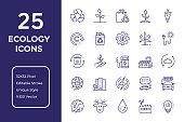 Ecology Line Icon Design