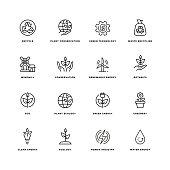 Ecology Line Icon Set