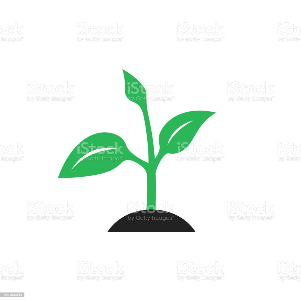 Ecology logo - green design vector art illustration