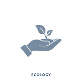 istock Ecology Mono Color Flat Icon. Pixel Perfect. 1218989694