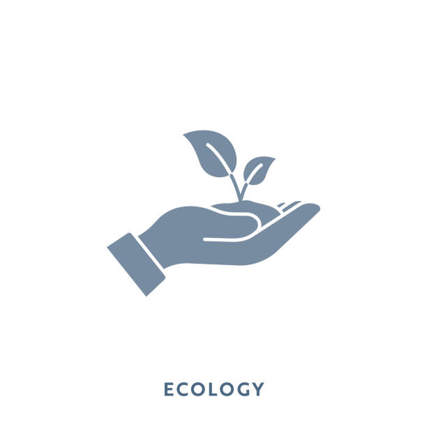 ecology mono color flat icon. pixel perfect. - sustainability icons stock illustrations