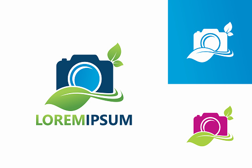 Ecology Photography Logo Template Design Vector, Emblem, Design Concept, Creative Symbol, Icon