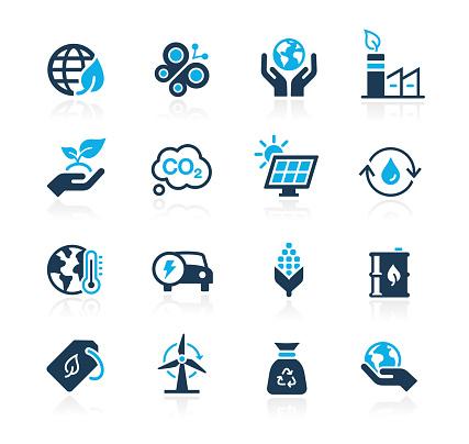 Ecology & Renewable Energy Icons // Azure-Series