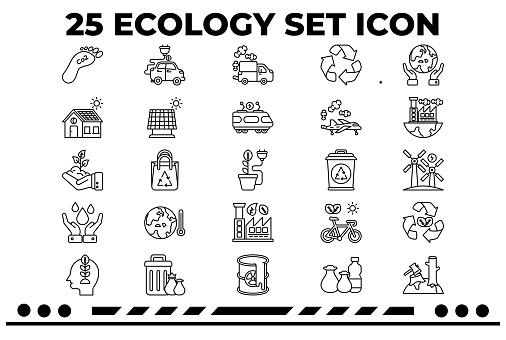 25 Ecology & Sustainability Icons