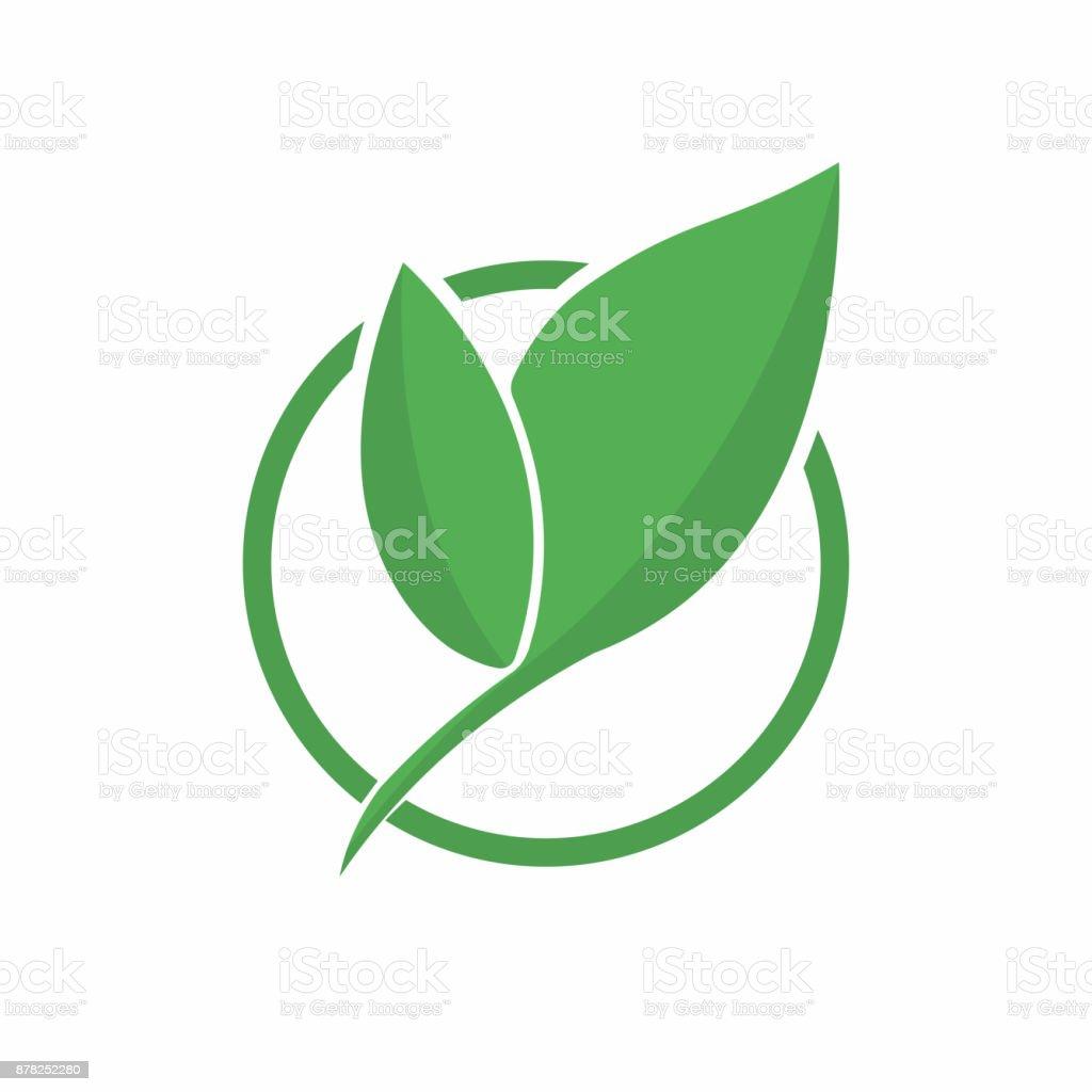 Ecology Symbol Abstract Eco Green Leaf Symbol Icon Eco