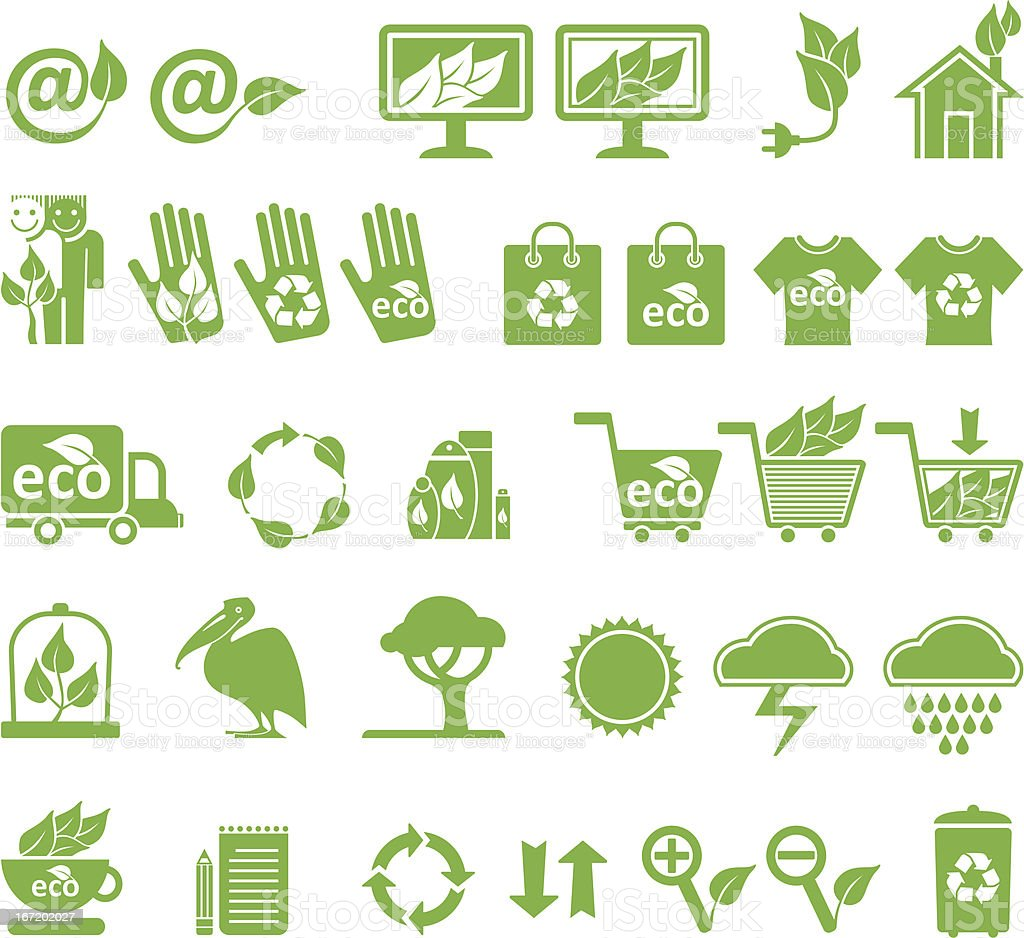 Ecology vector set. royalty-free stock vector art