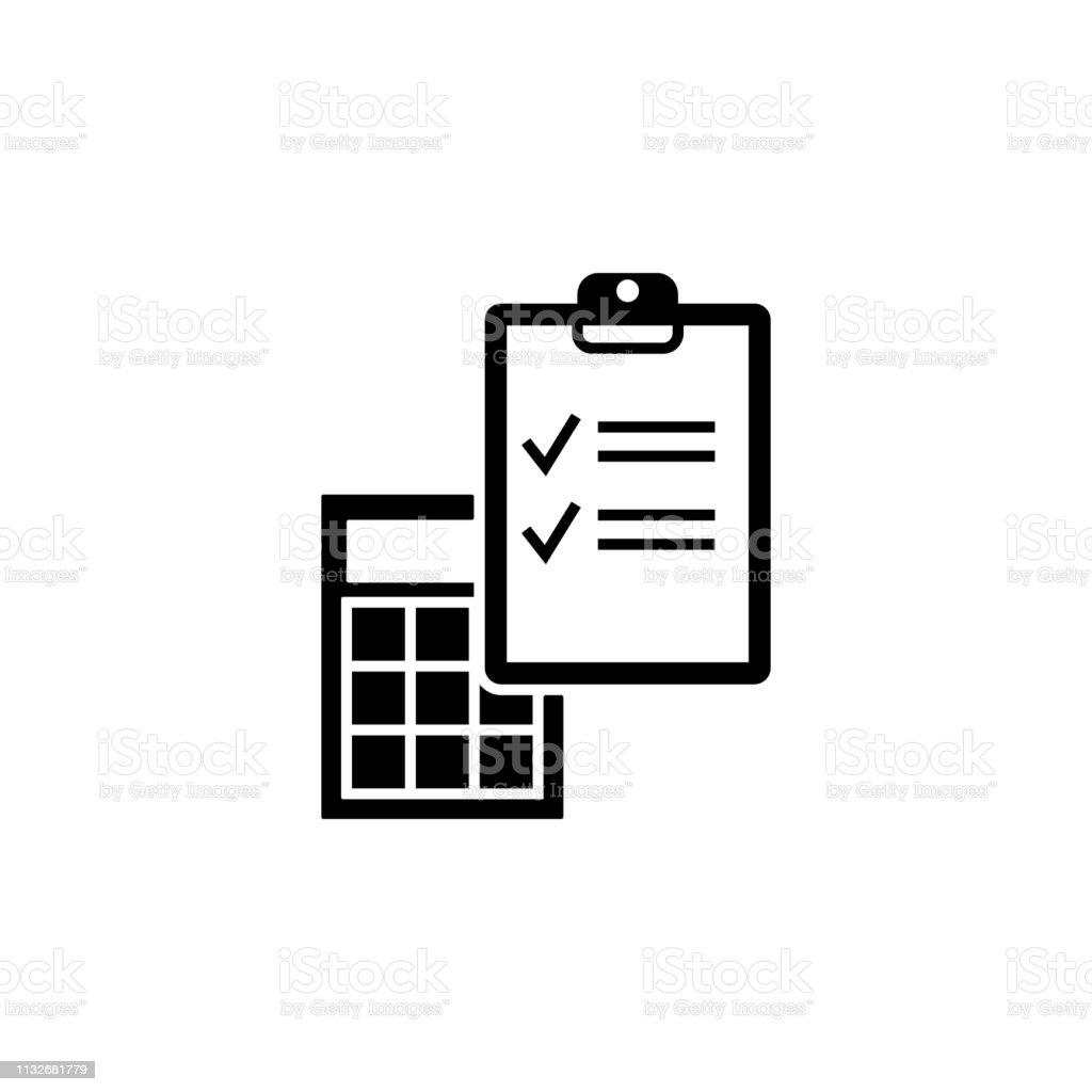 Ecommerce Buchhaltung Taschenrechner Icon Element Des