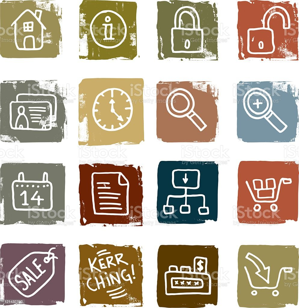 Ecommerce and information icons royalty-free stock vector art