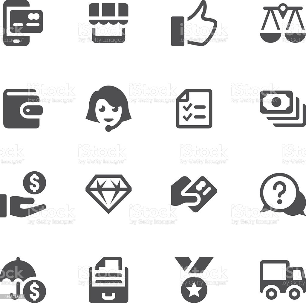 E-Commerce and Online Shopping Icon vector art illustration