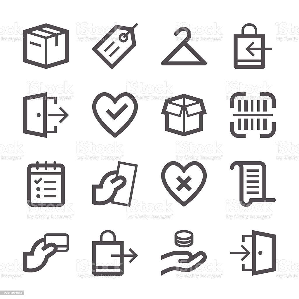 E-Commerce and Shopping Icons set 2 | Stroke Series vector art illustration