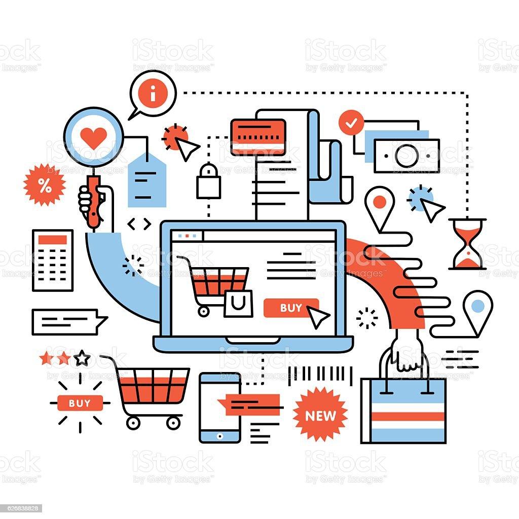 Ecommerce business concept vector art illustration