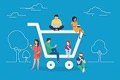 E-commerce concept illustration