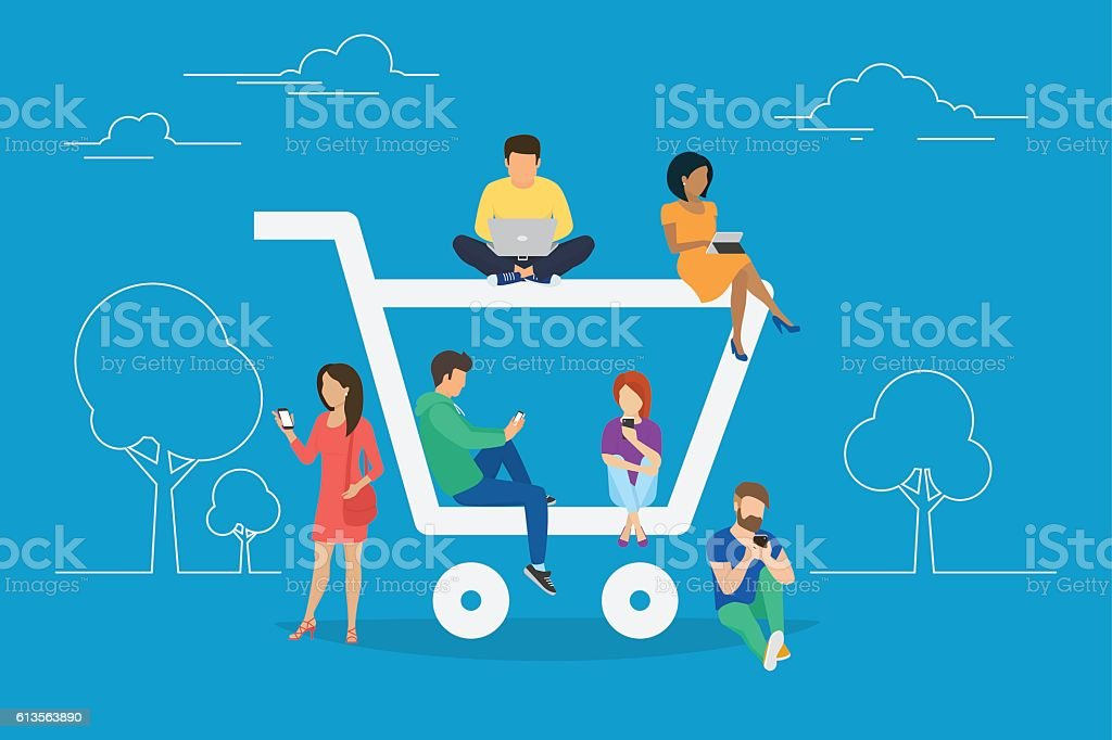 E-commerce concept illustration vector art illustration