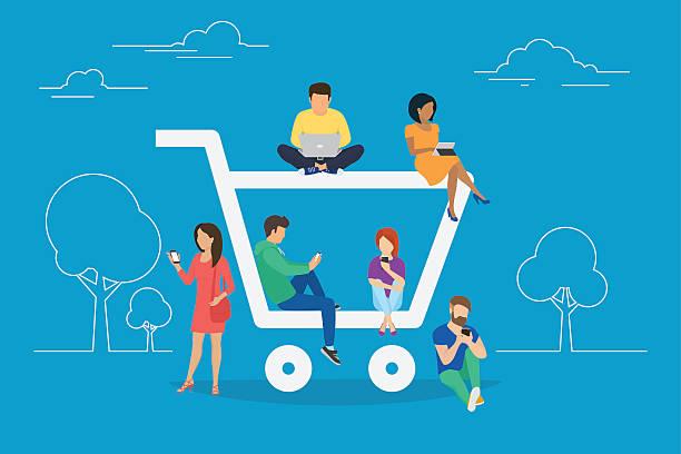 E-commerce concept illustration vector art illustration