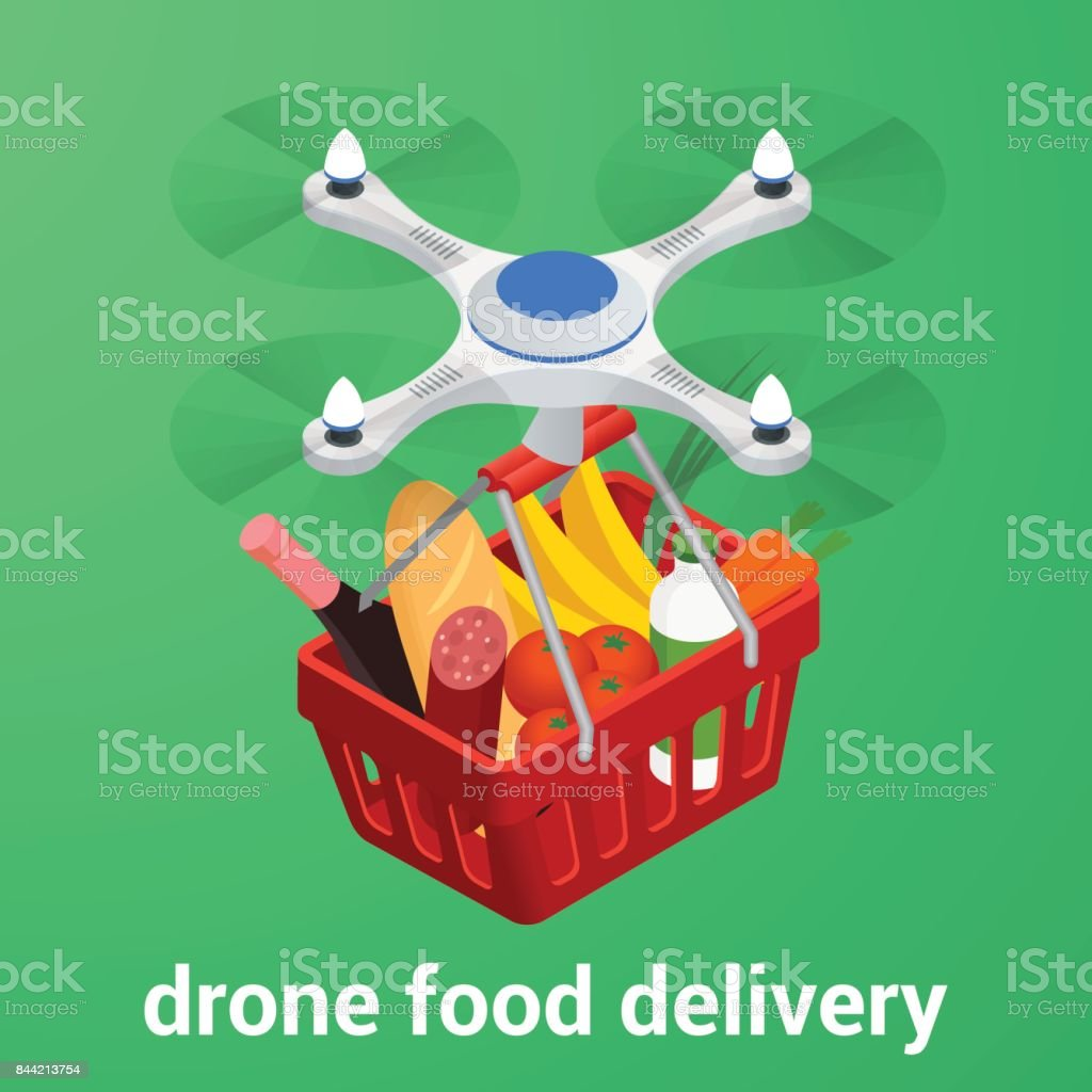 Can i buy healthy food online - E Commerce Concept Order Food Online Website Drone Delivery Healthy Food Online Service