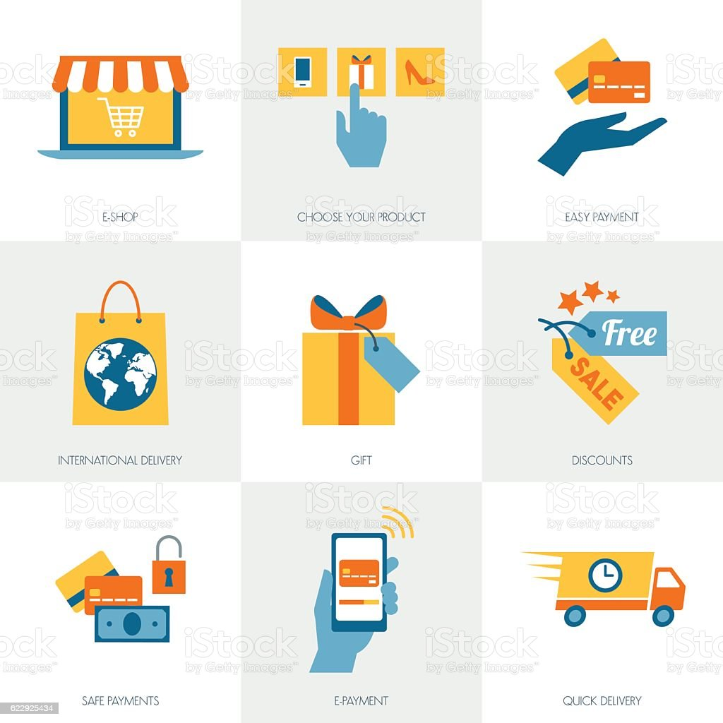 E-commerce concepts vector art illustration
