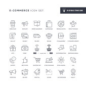 29 E-Commerce Icons - Editable Stroke - Easy to edit and customize - You can easily customize the stroke width