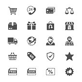 E-commerce flat icons