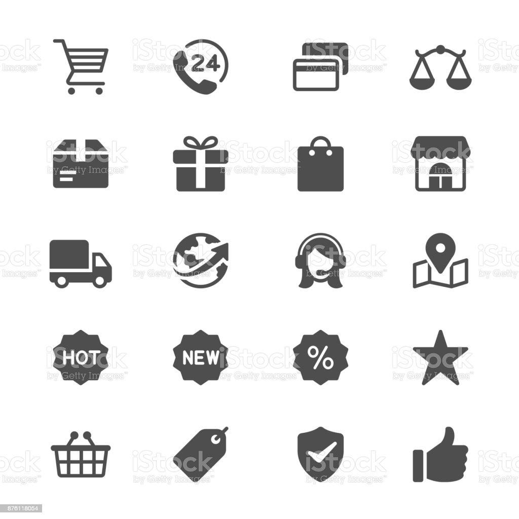 E-commerce glyph icons vector art illustration