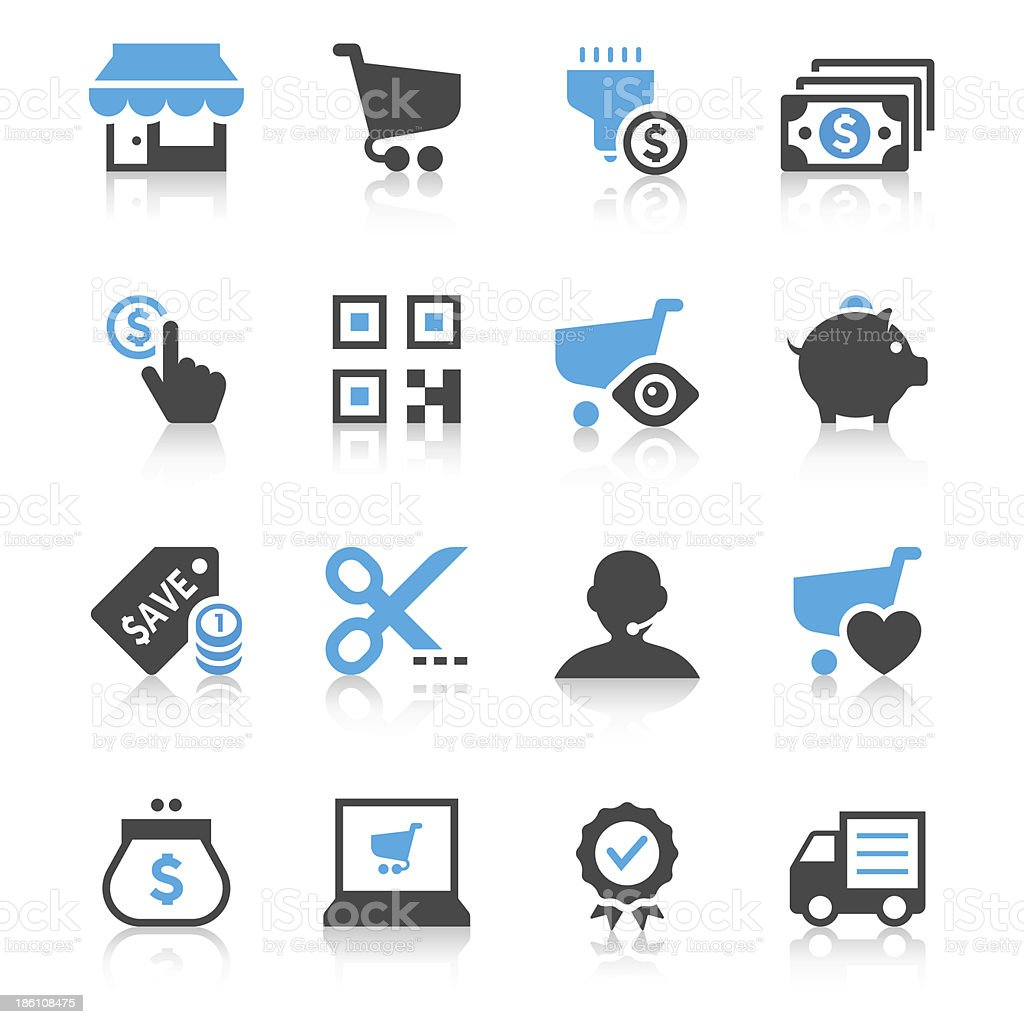 E-Commerce Icon Set | Concise Series vector art illustration