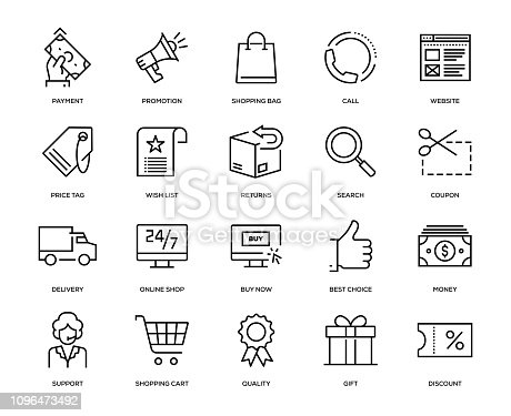 E-Commerce Icon Set - Thin Line Series