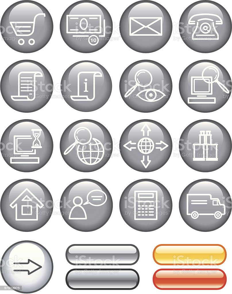 E-Commerce Icon Set royalty-free ecommerce icon set stock vector art & more images of black color