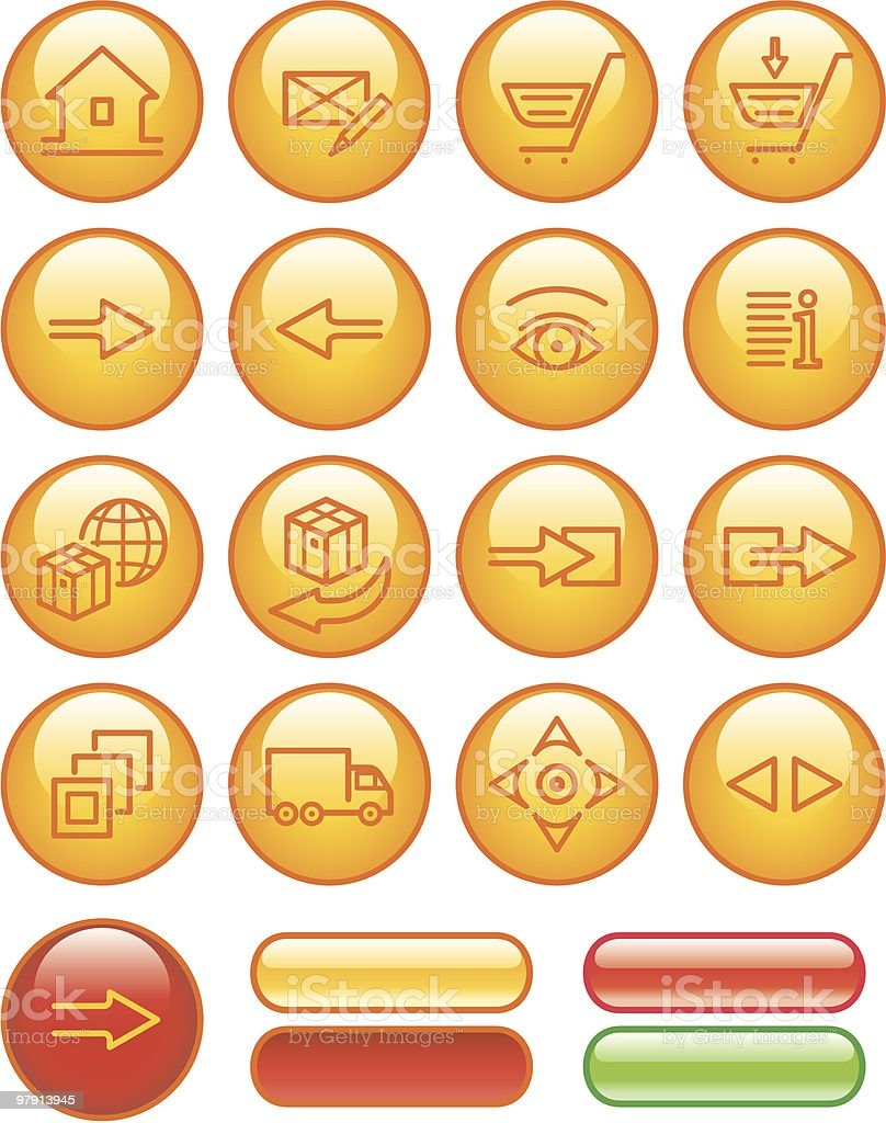 E-Commerce Icon Set royalty-free ecommerce icon set stock vector art & more images of arrival