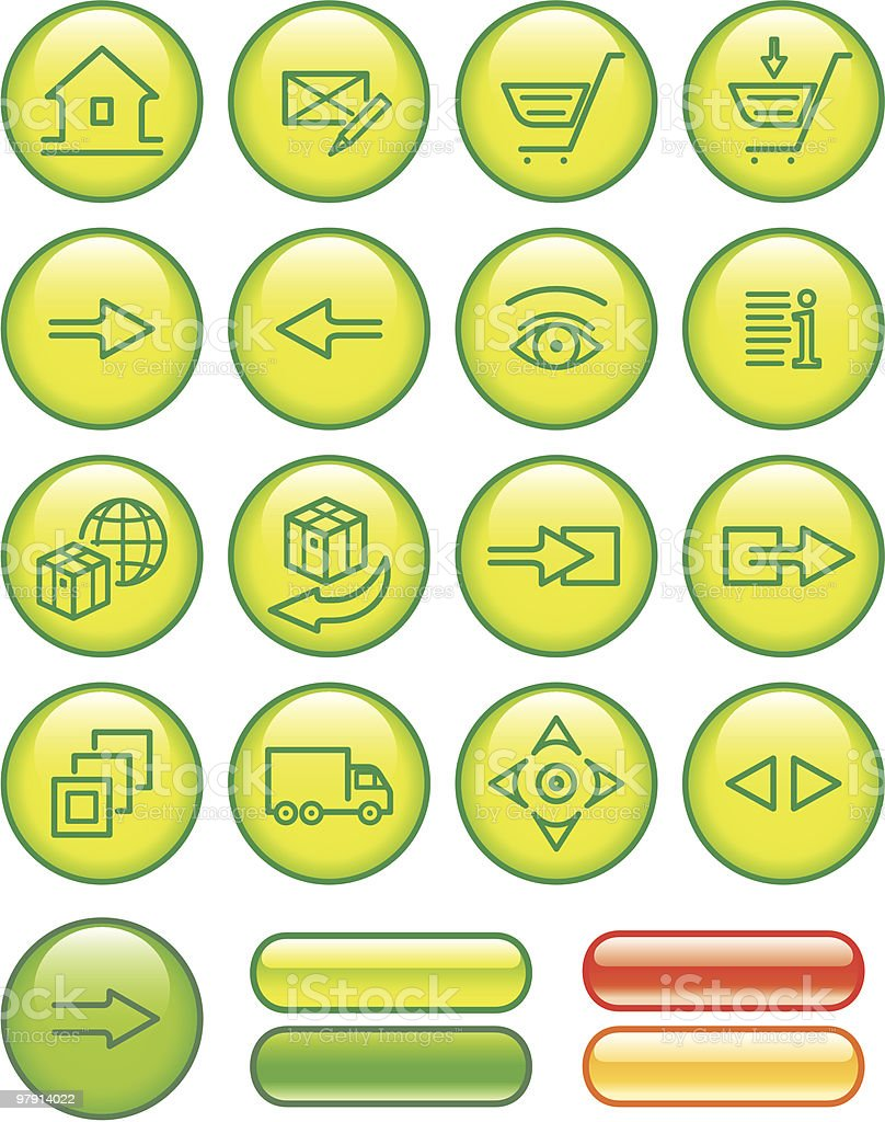 E-Commerce Icon Set royalty-free ecommerce icon set stock vector art & more images of arranging