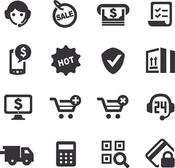 bildbanksillustrationer, clip art samt tecknat material och ikoner med e-commerce icons - acme series - on demand
