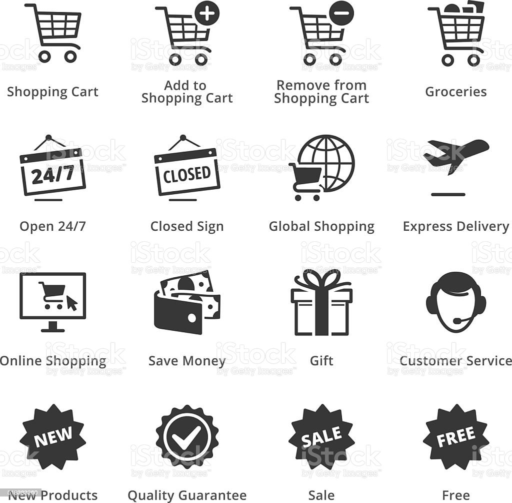 E-commerce Icons - Set 2 vector art illustration