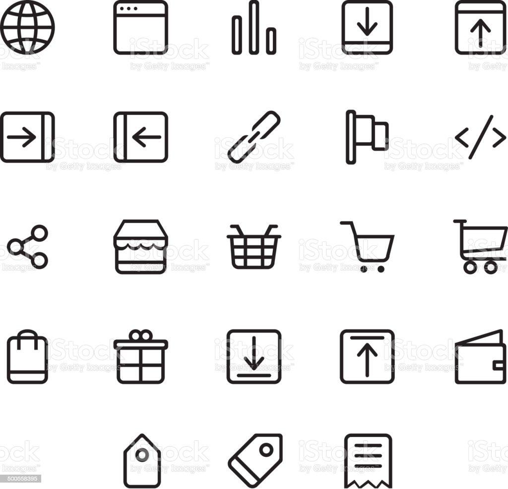 E-Commerce Icons Set vector art illustration