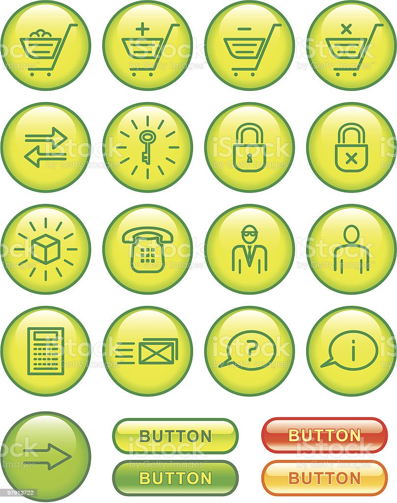 E-Commerce Icons Set royalty-free ecommerce icons set stock vector art & more images of business
