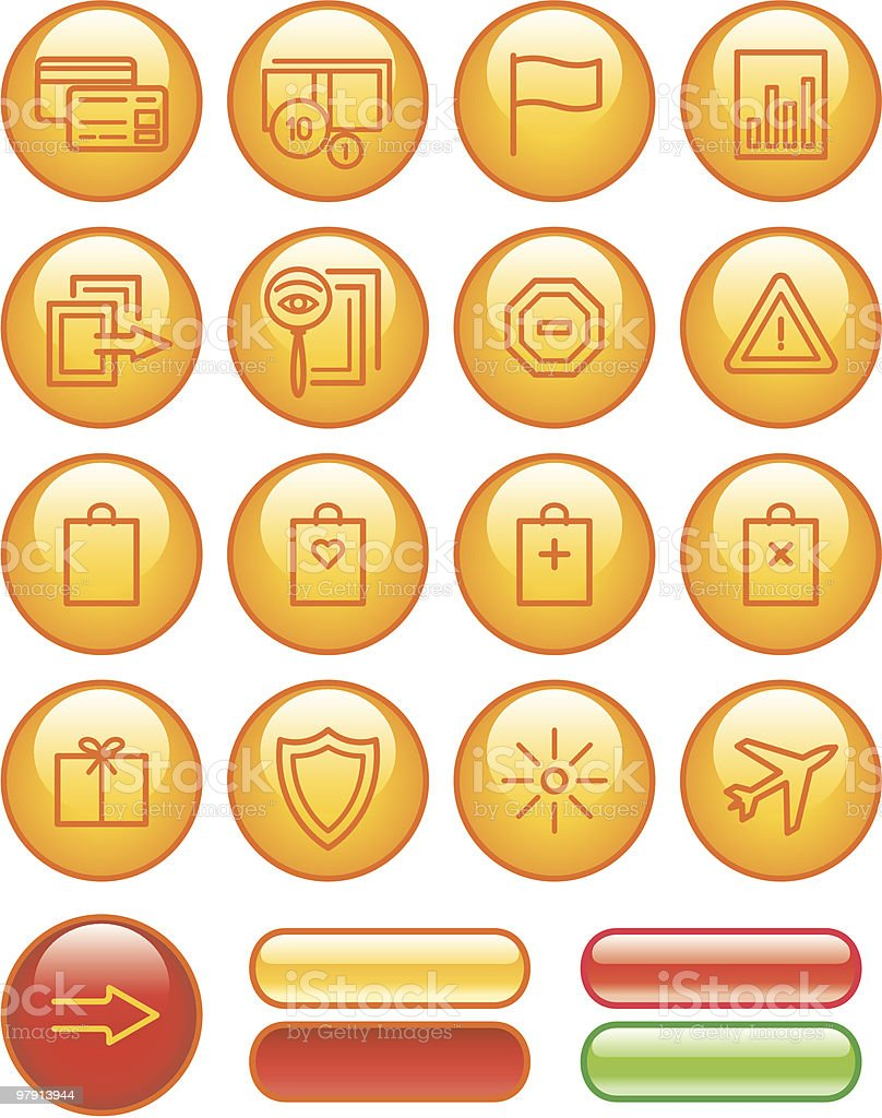 E-Commerce Icons Set royalty-free ecommerce icons set stock vector art & more images of bag