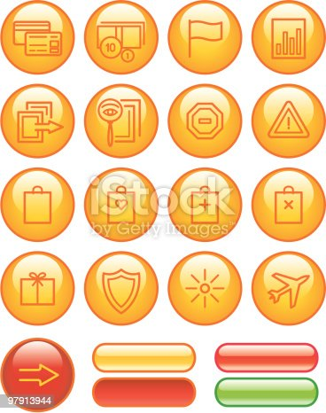 Ecommerce Icons Set Stock Vector Art & More Images of Bag 97913944
