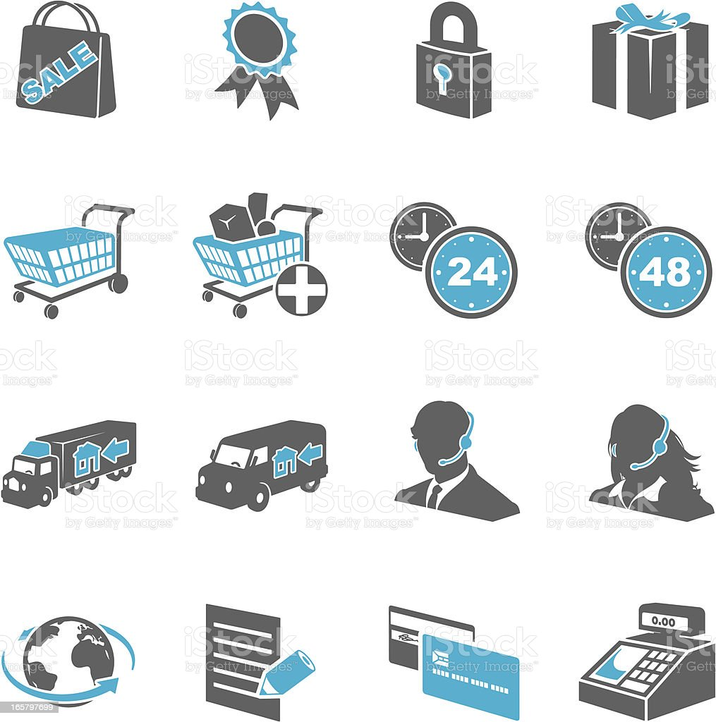E-Commerce Icons royalty-free stock vector art