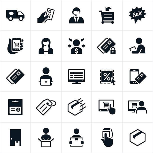 ecommerce-icons - bestellen stock-grafiken, -clipart, -cartoons und -symbole
