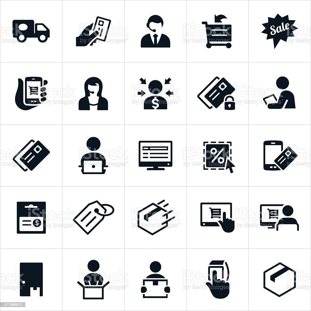 eCommerce Icons vector art illustration