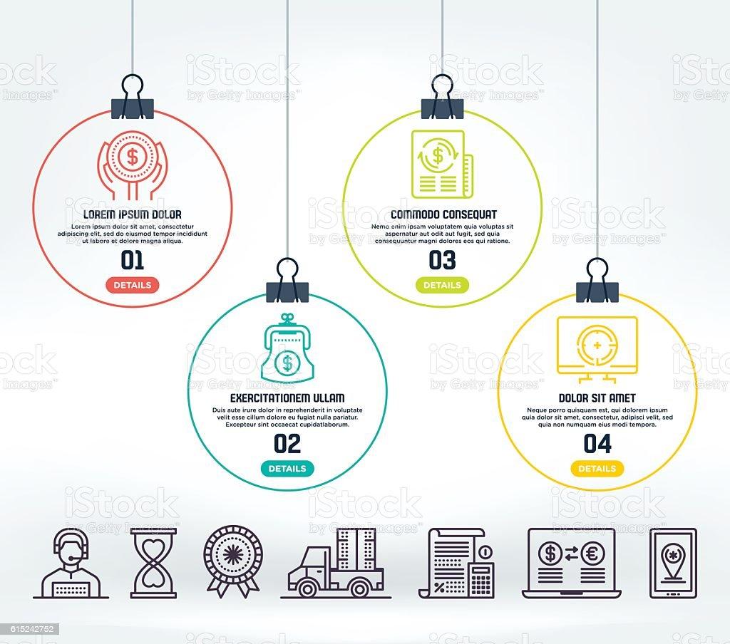 E-Commerce Infographic – Vektorgrafik