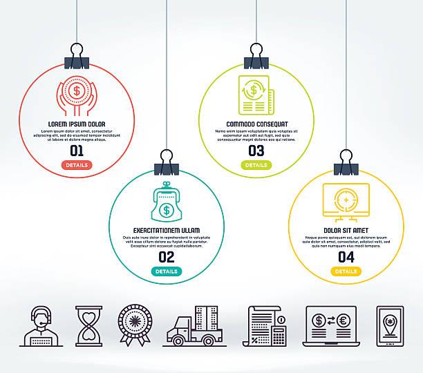 e-commerce infographic - preisschachtel stock-grafiken, -clipart, -cartoons und -symbole