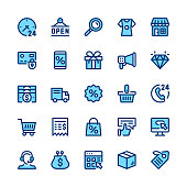 Ecommerce, internet commerce, online shopping line icons set. Modern graphic design concepts, simple symbols, linear stroke web elements, pictograms collection. Minimal thin line design. Premium quality. Pixel perfect. Vector outline icons