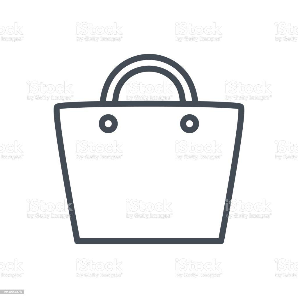 Ecommerceline Symbol Tasche Stock Vektor Art und mehr Bilder von ...