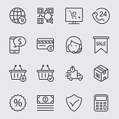 E-commerce line icon