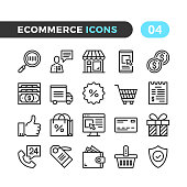 Ecommerce line icons. Outline symbols collection. Modern stroke, linear elements. Premium quality. Pixel perfect. Vector thin line icons set