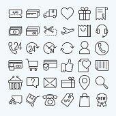 E-commerce  line icons set