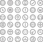 E-commerce. Online shop linear icons set